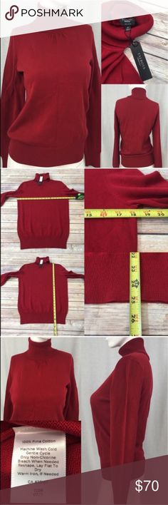 💄NWT Size Medium Talbots Red Turtleneck Sweater Measurements are in photos. Brand New, no flaws. C3  I do not comment to my buyers after purchases, due to their privacy. If you would like any reassurance after your purchase that I did receive your order, please feel free to comment on the listing and I will promptly respond.   I ship everyday and I always package safely. Thank you for shopping my closet! Talbots Sweaters Cowl & Turtlenecks