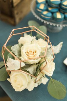 """Wire lantern of blooms from a """"Love You to the Moon"""" Rustic Baby Shower on Kara's Party Ideas 