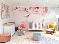 Had so much fun transforming this bedroom into a colourful Nursery Room! How amazing is this wallpaper from… Nursery Room, Bedroom, Toddler Bed, Wallpaper, Amazing, Fun, Color, Furniture, Home Decor