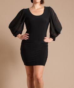 Black Trumpette Dress - Plus