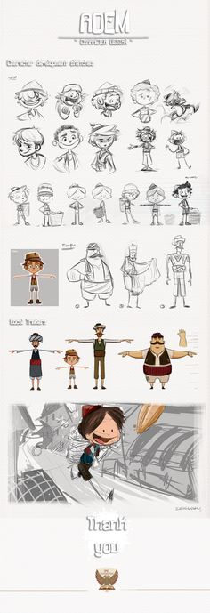 '' Adem '' character designs on Behance