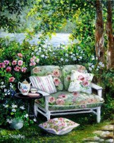 'Garden Tea' by Joelma Siqueira