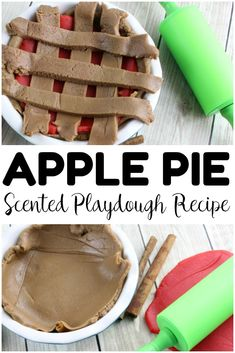 Fall Apple Pie Playdough for Kids - Look! We're Learning!