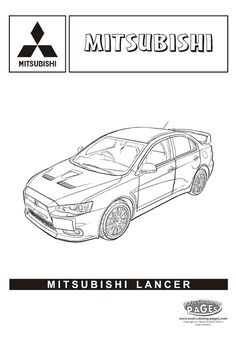 Mitsubishi Lancer - Cars coloring pages