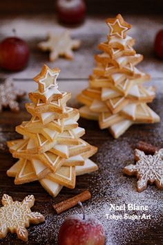 x'mas cookies tree #event #formed(star, heart, flower)