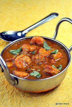 Indian Khana: Chettinad Prawn Curry   Chettinad Eral Kuzhambu
