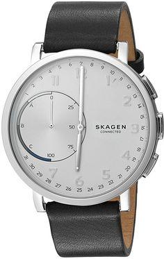 Amazon.com: Skagen Men's 'Hagen Connected' Quartz Stainless Steel and Leather Casual Watch, Color:Black (Model: SKT1101): Watches
