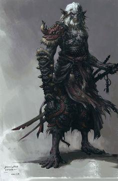 Zombie samurai swordsman artworks illustrations