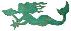 Swimming Mermaid Wall Decor, Blue | Year-End Sale | One Kings Lane