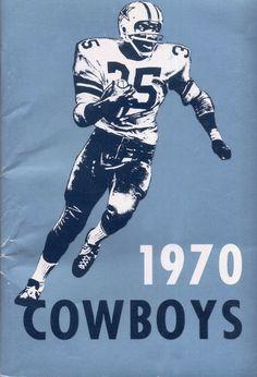 1970 Dallas Cowboys media guide, Calvin Hill cover #Dallas #Cowboys #DallasCowboys #CowboyNation yes