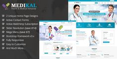 Medikal - Health & Medical Responsive HTML5 Template . Medikal is a library for Health & Medical with predefined web elements which helps you to build your own