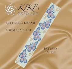 Bead loom pattern Butterfly dream LOOM bracelet PDF pattern