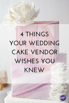 Looking for a wedding cake can be fun and exciting with so many beautiful cake designs to check out.  There are also a lot to consider when choosing your cake.  Here are some things you may want to keep in mind when looking for a wedding cake.