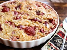 Baked Oatmeal - must try.  No more standing over a stove or having oatmeal cook over in the microwave!