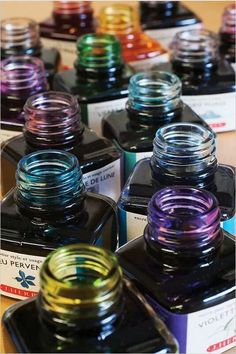Completely luscious pic of ink bottles from Rhodia's Facebook page. Mmmmm.