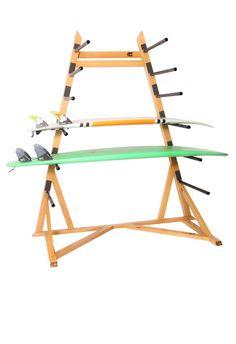 freestanding surfboard rack holds 5 surfboards surfboardrack surfboardstorage. Black Bedroom Furniture Sets. Home Design Ideas