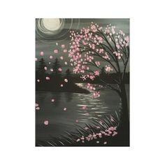 #pink - #Autumn Tree in Moonlight Canvas Print Wall Art