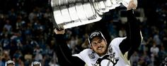 Sidney Crosby: 100 Greatest NHL Players 'Sid the Kid' has won Stanley Cup twice with Penguins, two Olympic gold medals, World Cup with Canada Nhl Stanley Cup Finals, Stanley Cup Champions, Ice Hockey Players, Nhl Players, Hockey Puck, Lets Go Pens, Pittsburgh Penguins Hockey, Nhl Penguins, Pittsburgh Sports
