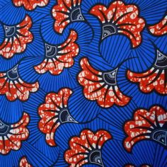 Petit coupon de véritable tissu,  wax(pagne africain) 45cm x55cm