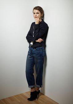 These boyfriend jeans