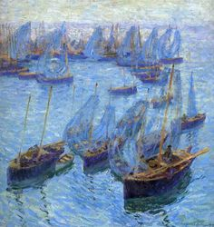 Breton Fishing Boats  -   Bernhard Gutmann 1912  German, 1869-1936