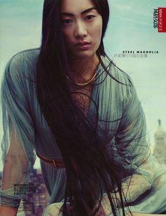 ASIAN MODELS BLOG: EDITORIAL: Shu Pei in Vogue China, June 2012