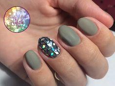 Модный дизайн ногтей 2017.Мозаика Ромбы Матовый маникюр - YouTube