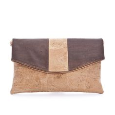 Elegant #Handbag & #Clutch made of silky smooth #cork #leather | 100% #sustainable & #vegan | CHF 115.00 | free delivery & return within Switzerland