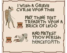 Grave Curse - Cross-Stitch Pattern - MATURE - Memes - INSTANT DOWNLOAD