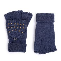 Aw 2014, Mountain Hiking, Knitted Gloves, Autumn, Knitting, Winter, Blue, Accessories, Fashion