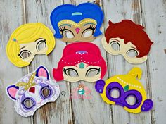 Shimmer and Shine mask, genie mask, birthday party, party favors, dress up fun, photo booth props, shimmer and shine birthday party by MyWonderlandBoutique on Etsy