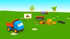 Cartoni Animati per Bambini - Leo il Camion Curioso e il Bulldozer