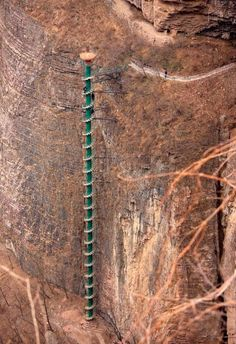 Vertical Limits...... This is the 300-ft spiral staircase on the wall of the Taihang Mountains in Linzhou, China...