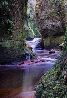 Mysterious, Wet & Slippery, Finnich Glen, Scotland