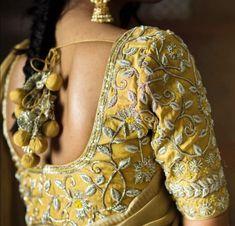Saved by radha reddy garisa Blouse Patterns, Blouse Designs, Pakistani Outfits, Work Blouse, Saree Blouse, Indian Wear, Embroidery Designs, Zardosi Work, Silk