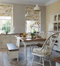 Laura Ashley old fashion white kitchen
