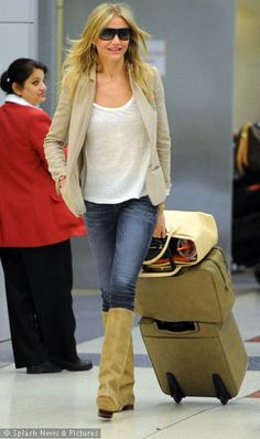 Cameron Diaz, just don't care for the color of the boots.