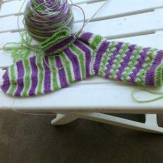 Fruit Stripe Gum Socks, Featuring a Spiral Rib pattern by Leah Oakley Crochet Socks, Knitting Socks, Hand Knitting, Knit Crochet, Knitting Ideas, Cute Crafts, Creative Crafts, Sock Dolls, Arm Warmers
