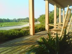 Front porch sittin' at Gregory Vineyards. What are you waiting for?