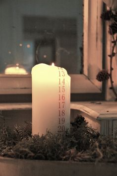 Frøken Jægers  - Danish Christmas calendar candle.... cool idea
