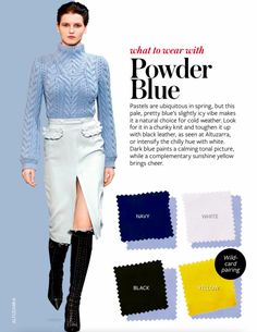 Instyle What to Wear with POWDER BLUE