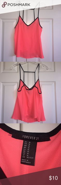Forever 21 Neon Top NWOT Neon tank top from forever 21. Never been worn, perfect condition. Perfect for summer! Forever 21 Tops Tank Tops