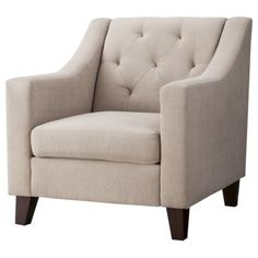 Tufted Chair - Target - $270 Thoughts for my sitting room! W an accent light blue rug