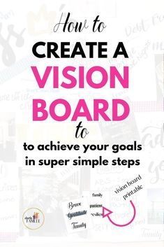 How to create a vision board that helps you achieve your goals faster? The Ultimate How to Guide in Making a Dream Board with great vision board ideas. Creating A Vision Board, Self Development, Personal Development, Life Advice, Career Advice, Achieve Your Goals, Life Motivation, Life Purpose, How To Stay Motivated