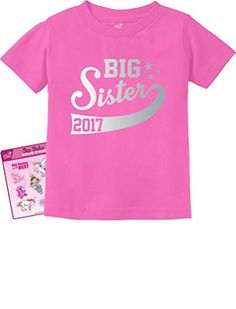 Big Sister Est 2017 - Sibling Gift Idea Toddler/Infant Kids T-Shirt + Stickers - http://bigboutique.tk/product/big-sister-est-2017-sibling-gift-idea-toddlerinfant-kids-t-shirt-stickers/