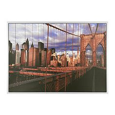 """VILSHULT picture, gilded city Width: 55 """" Height: 39 ¼ """" Width: 140 cm Height: 100 cm"""