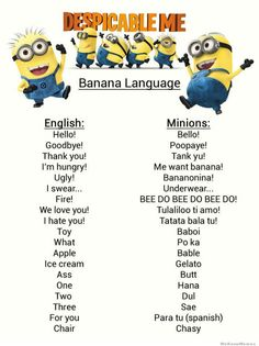 How to speak Minion