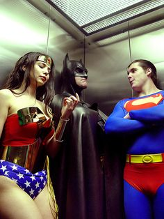When flying, lassos, or a bat rope can't get you there...                            (Superman,Batman, Wonder Woman)