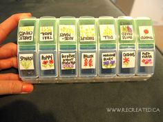 Use a pillbox to organize and store your seeds!