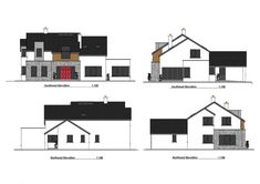 Two Storey Dormer Dwelling House House Designs Ireland, Old School House, Willis Tower, Building A House, House Plans, Old Things, Floor Plans, Traditional, Contemporary